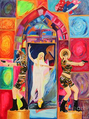 S T Seven Women Art Print by Debbie Davidsohn