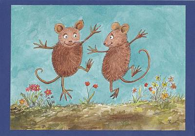 Painting - S1  Dancing Mice by Charles Cater