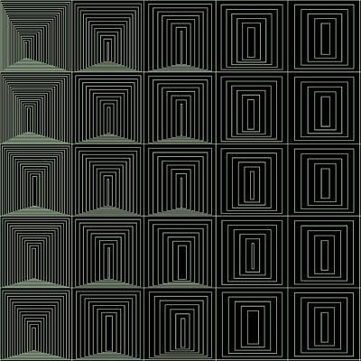 Black Background Digital Art - S.1.21 by Gareth Lewis