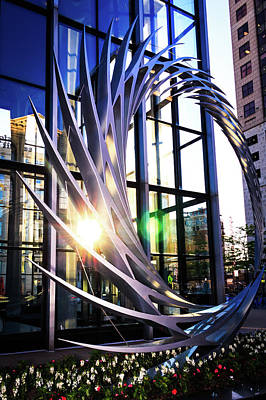 Photograph - S2 Sculpture In Downtown Milwaukee by Jeanette Fellows
