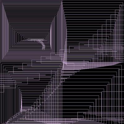 Square Digital Art - S.2.10 by Gareth Lewis