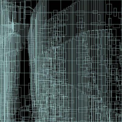 Square Digital Art - S.2.40 by Gareth Lewis