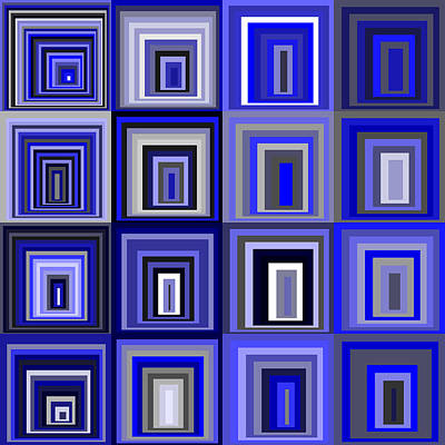 Square Digital Art - S.5.11 by Gareth Lewis