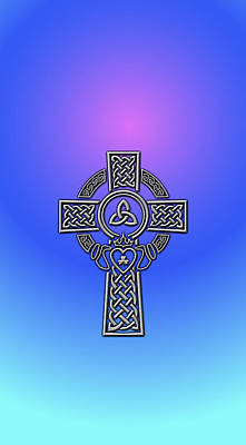 Digital Art - S6 Phone Celtic Cross by Ireland Calling