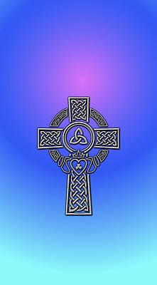 Digital Art - S6 Phone Celtic Cross by Ireland Calling
