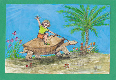 Drawing - S7 Tortoise Ride by Charles Cater