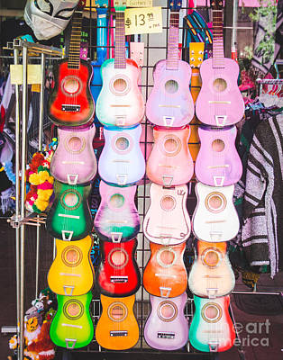 Poncho Photograph - Sa Guitars by Sonja Quintero