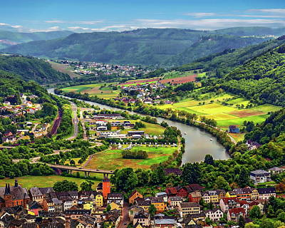 Photograph - Saar River Valley by Anthony Dezenzio