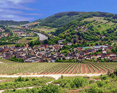 Photograph - Saarburg And Vineyards by Anthony Dezenzio