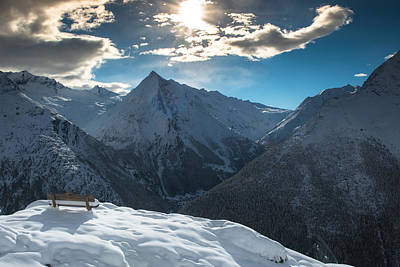 Wall Art - Photograph - Saas Fee Sun by Scott Hafer