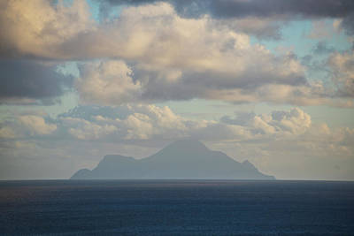 Photograph - Saba On The Horizon Simpson Bay Caribbean by Toby McGuire