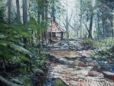 Painting - Sabah Hut In Malaysia 2016 by Enver Larney