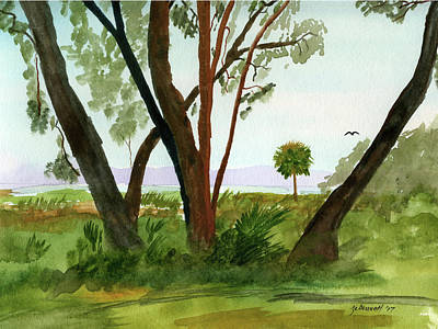 Painting - Sabal Palm - Payne's Prairie by John Bennett