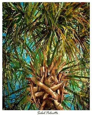 Palmetto Tree Painting - Sabal Palmetto by Eddie Glass