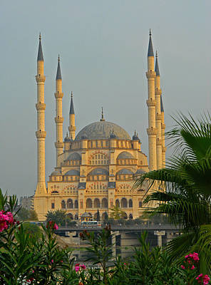 Photograph - Sabanci Central Mosque In Adana Turkey by Alan Toepfer