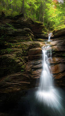 Photograph - Sabbaday Falls Autumn by Bill Wakeley