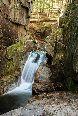 Bridge Photograph - Sabbaday Falls by Ralph Staples