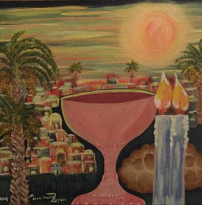 Kiddush Painting - Sabbath Land /land Of Rest by Anne Tissera