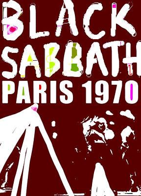 Def Leppard Mixed Media - Sabbath Paris1970  by Enki Art
