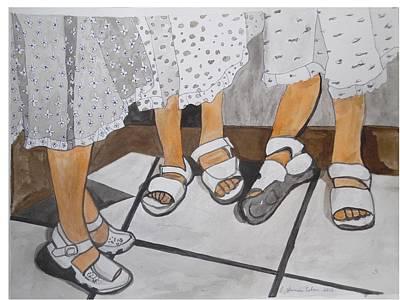 Painting - Sabbath Sandals by Esther Newman-Cohen