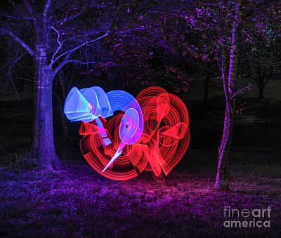 Photograph - Sabers Blue And Red by Brian Jones