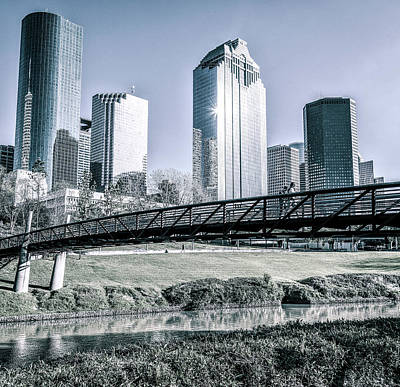 Photograph - Sabine Promenade Over Buffalo Bayou by Andy Crawford