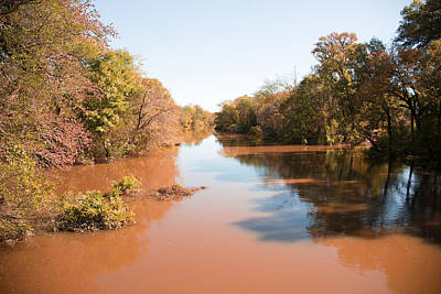 Flooding Digital Art - Sabine River Near Big Sandy Texas Photograph Fine Art Print 4084 by M K  Miller