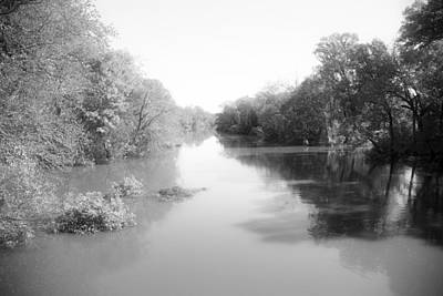 Flooding Digital Art - Sabine River Near Big Sandy Texas Photograph Fine Art Print 4085 by M K  Miller