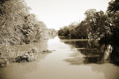 Flooding Digital Art - Sabine River Near Big Sandy Texas Photograph Fine Art Print 4086 by M K  Miller