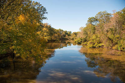 Flooding Digital Art - Sabine River Near Big Sandy Texas Photograph Fine Art Print 4087 by M K  Miller