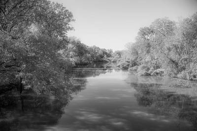 Flooding Digital Art - Sabine River Near Big Sandy Texas Photograph Fine Art Print 4088 by M K  Miller