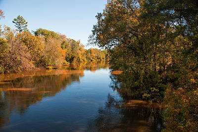 Photograph - Sabine River Near Big Sandy Texas Photograph Fine Art Print 4090 by M K Miller