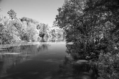 Flooding Digital Art - Sabine River Near Big Sandy Texas Photograph Fine Art Print 4091 by M K  Miller