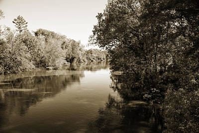 Flooding Digital Art - Sabine River Near Big Sandy Texas Photograph Fine Art Print 4092 by M K  Miller
