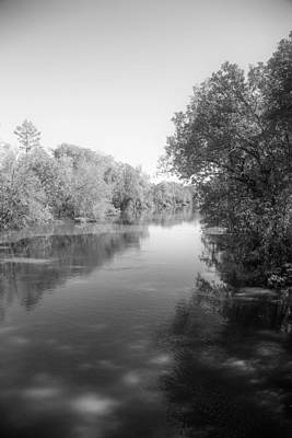 Flooding Digital Art - Sabine River Near Big Sandy Texas Photograph Fine Art Print 4094 by M K  Miller
