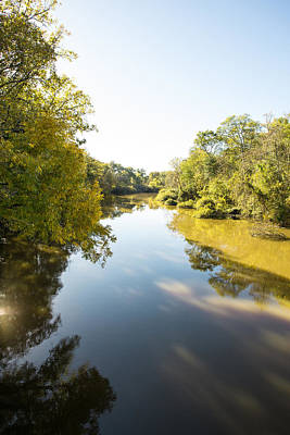 Photograph - Sabine River Near Big Sandy Texas Photograph Fine Art Print 4108 by M K Miller