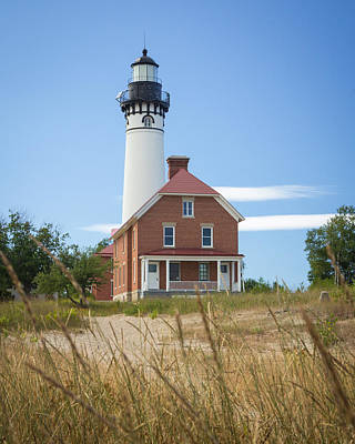 Photograph - Sable Point Lighthouse by Kimberly Kotzian