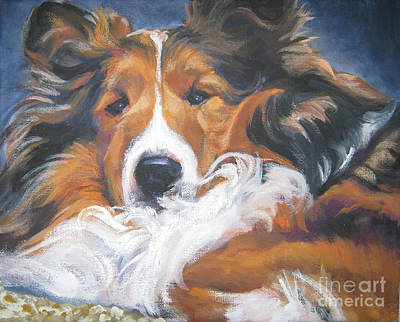 Sheepdog Painting - Sable Shetland Sheepdog by Lee Ann Shepard
