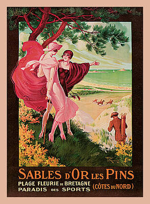 Painting - Sables D'or Les Pin by Henry Le Monnier