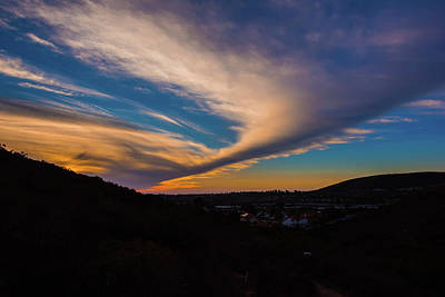 Photograph - Sabre Springs California Sunset Img1 by Bruce Pritchett