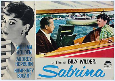 Sabrina - Audrey Hepburn - Italian Version Art Print by Georgia Fowler