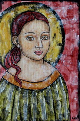 Christian Art . Devotional Art Painting - Sabrina by Rain Ririn