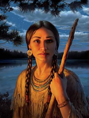 Forest Digital Art - Sacagawea by Mark Fredrickson