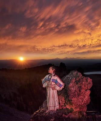 Sacagawea Photograph - Sacagawea Sunset by Christian Heeb
