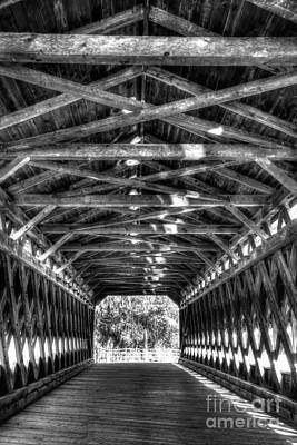 Photograph - Sachs Bridge - Gettysburg - Bw-hdr by Paul W Faust - Impressions of Light