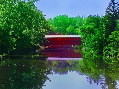 Sachs Covered Bridge - Gettysburg Pa Art Print by Bill Cannon