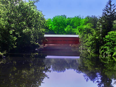 Sachs Covered Bridge In Gettysburg  Art Print by Bill Cannon
