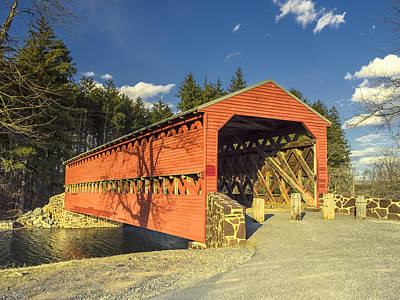 Photograph - Sachs Covered Bridge  by Marianne Campolongo