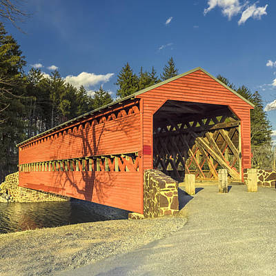 Photograph - Sachs Covered Bridge Square by Marianne Campolongo