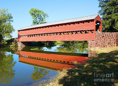 Photograph - Sachs Covered Bridge by Traci Law